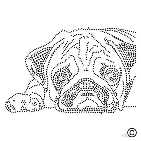pug iron on transfer iron on rhinestone transfer sad pug diamante hotfix motif applique ebay