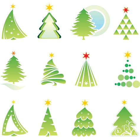 abstract christmas tree templates vector vector graphics