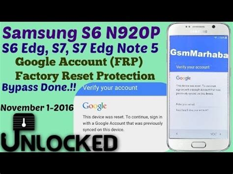 google account bypass galaxy  frp reset  youtube
