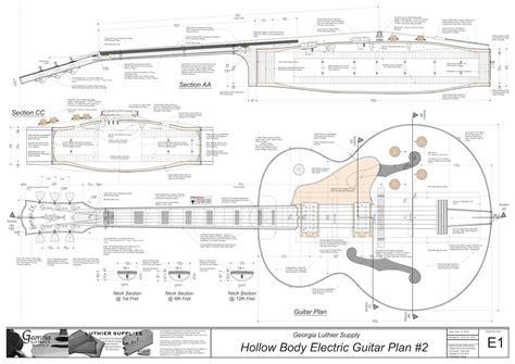 electric acoustic guitar plans hollowbody electric guitar plans 3 electronic version l
