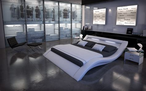 Schlafzimmer 200x220 Polsterbett Look Mit Licht 200x220 Weiss 200 X 220 Cm