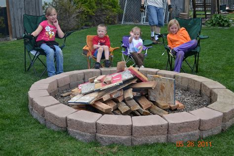 firepit in backyard backyard pit casual cottage