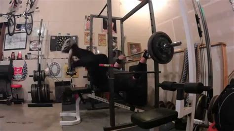 bench press 300 531 5s day bench press 300 x 9 and 300 x 15 slings youtube