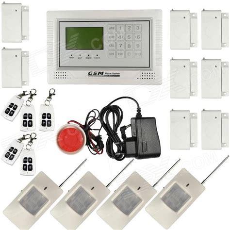 wireless defense zone gsm home security alarm system lcd
