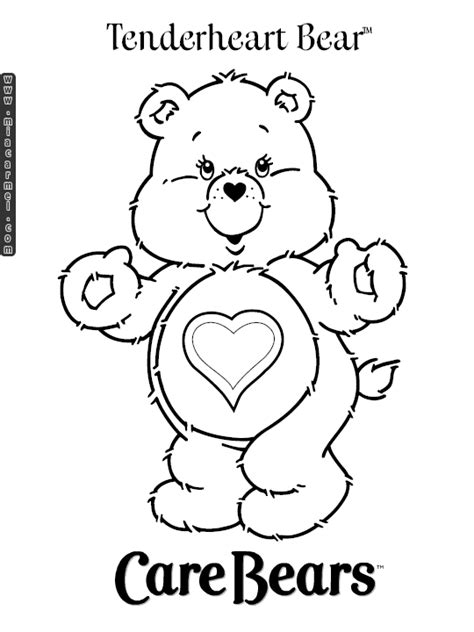 Care Bear Coloring Pages Free Printable Pictures Care Bears Coloring Pages Printable