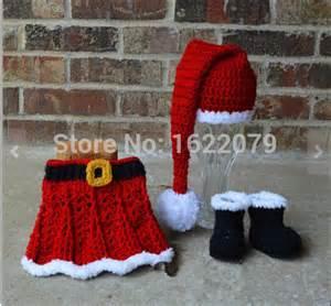 Christmas dress knitted sweaters crochet newborn infant girl