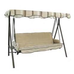 patio swings lowes shop garden treasures 3 seat steel traditional porch swing