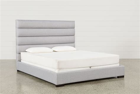 king upholstered platform bed hudson california king upholstered platform bed living