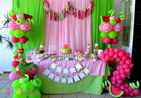 welcome home baby girl party ideas 2 wall decal partylicious events pr watermelon berry happy birthday