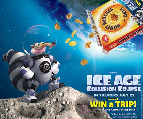 Www Ice Com Sweepstakes - enter the iceage collisioncourse scrat s space escape sweepstakes honey bunches