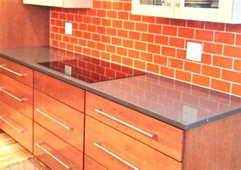 want bold colors install blue glass subway tile backsplash