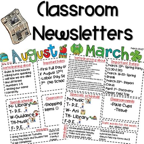 Classroom Newsletter Freebie Kickin It In Kindergarten School Newsletter Templates