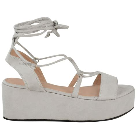 platform sandals new womens low wedge platform sandals strappy