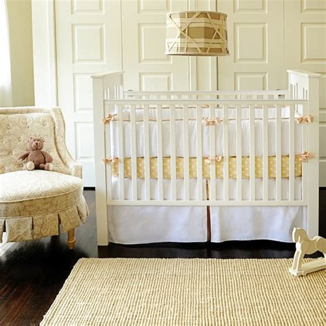 yellow nursery bedding white pique crib set traditional nursery new