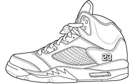 How To Draw Jordan Shoes Coloring Pages Jordans Coloring Pages