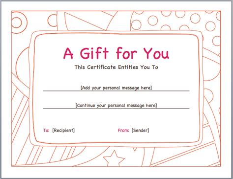 promotion card template free word format sles of gift voucher and certificate
