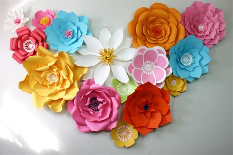 flower design using colored paper 9 paper flower templates free sle exle format