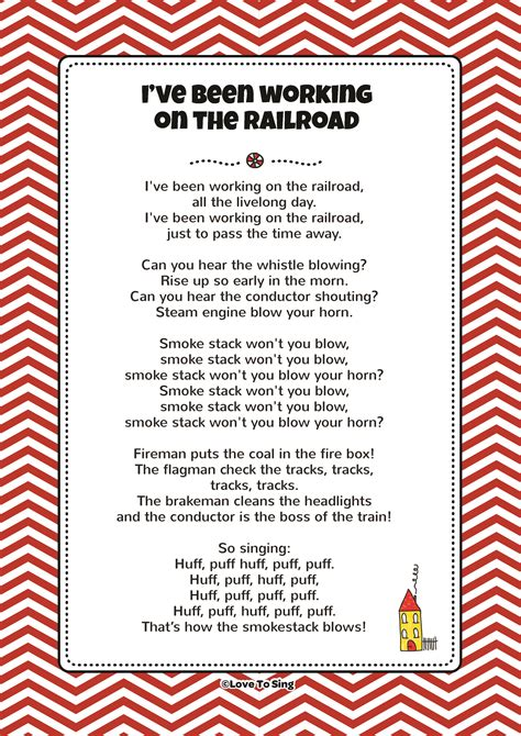 printable lyrics to i ve been working on the railroad i ve been working on the railroad kids video song with