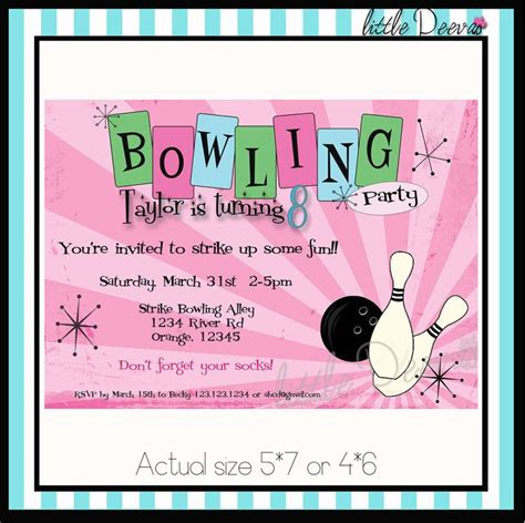 bowling birthday invitations free templates bowling invitations templates ideas all