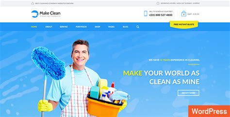 make clean make clean cleaning company wordpress theme by wpmines