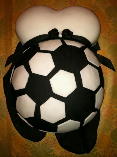 Soccer Themed Baby Shower Ideas by Baby Reveal Belly Cake Soccer Could Definitely Be Done