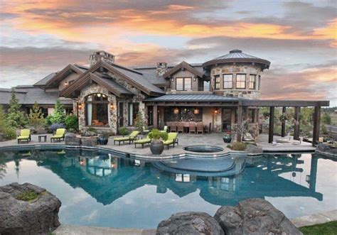 Garage With Apartment Plans by 11 5 Million Mansion In Bend Oregon Homes Of The Rich