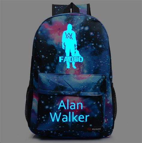 alan walker darkness dj alan walker glow in the dark backpack galaxy faded