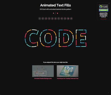 text pattern websites animated text fills svg text with animated dashed stroke