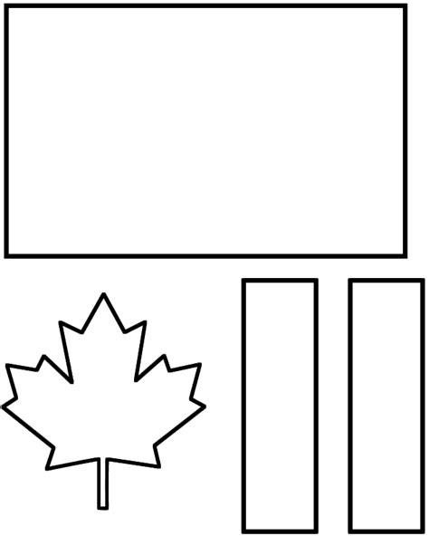 Canada Day Flag Paper Craft Black And White Template Canada Flag Template