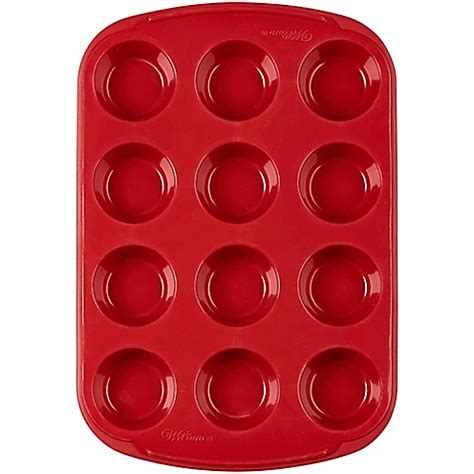 Loyang Mini Cup Teflon wilton 174 ultra flex nonstick 12 cup silicone mini muffin pan in bed bath beyond