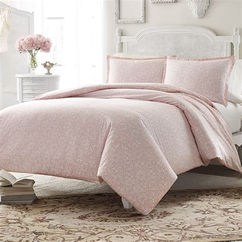 pink comforters stone cottage ava soft dusty pink comforter and duvet set