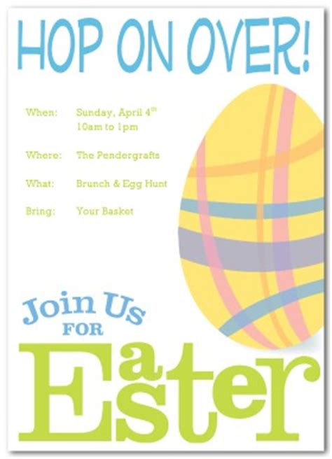 easter templates for word printable easter party invitation template