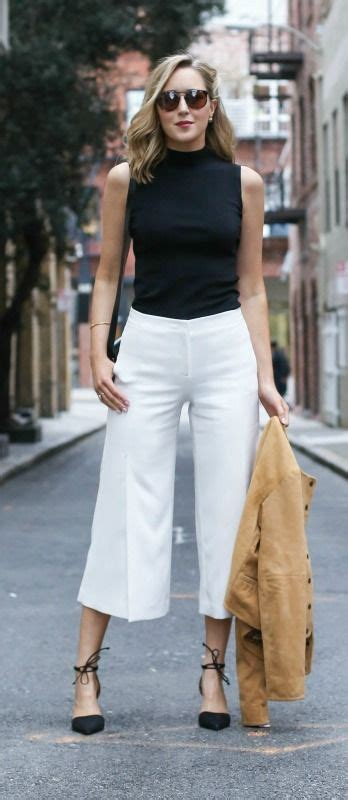 Culotte White 47 style tips about how to wear culottes culotte