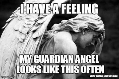 Guardian Angel Humor Guardian Palm Catholic Humor