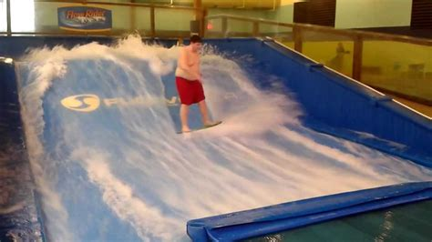 Soaring eagle waterpark flowrider - YouTube