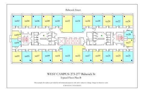 boston college floor plans west cus floor plans 187 housing boston university
