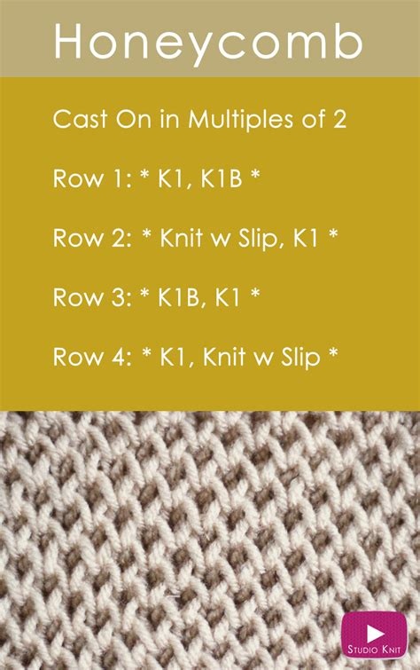 how to knit how to knit the honeycomb brioche stitch pattern studio knit