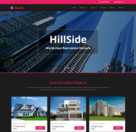 templates bootstrap real estate 15 best free real estate html website templates 2018
