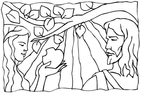 adam and eve coloring pages for kids az coloring pages