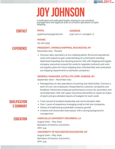 Powerful Executive Resume Sles 2017 Resume Sles 2018 It Resume Template 2017