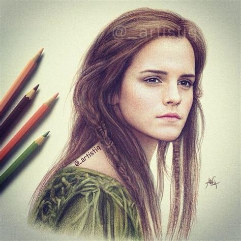 emma watson drawing artistiq on twitter quot emma watson from the movie noah