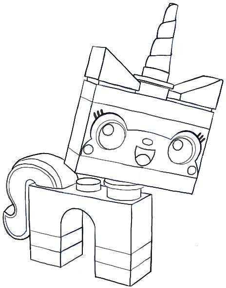 lego unicorn tutorial how to draw unikitty minifigure from the lego movie in