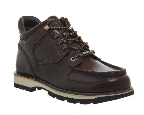 rockport boot for rockport umbwe boots in brown for lyst
