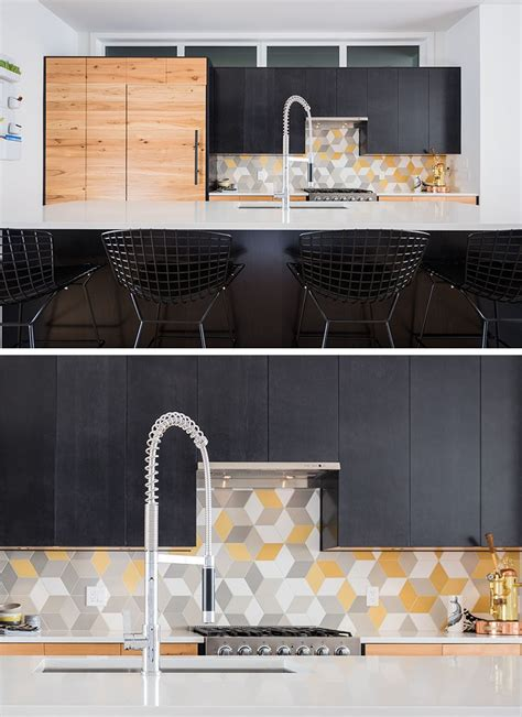 geometric pattern kitchen tiles 9 inspirational kitchens with geometric tiles contemporist