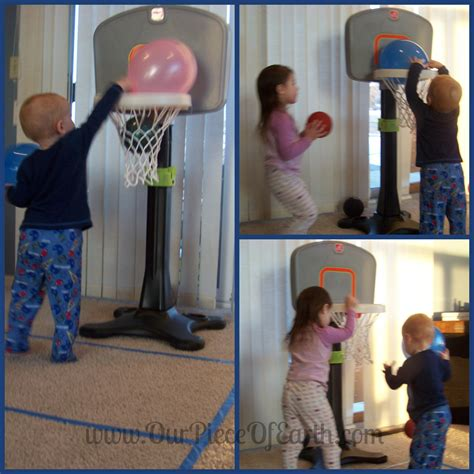 step2 light it up basketball hoop up this winter with some indoor our