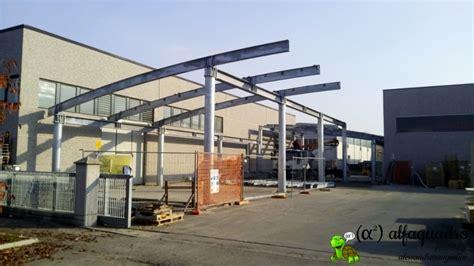 tettoia in acciaio tettoia in acciaio costruita con copertura ad arco modena