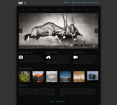 free photo gallery css web template templates perfect