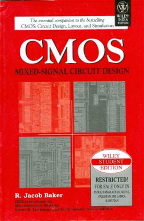 cmos circuit design layout and simulation 2nd edition cmos mixed signal circuit design by r jacob baker buy