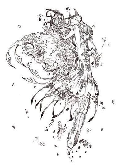 forest elf coloring pages fairy myth mythical mystical legend elf faerie fae wings