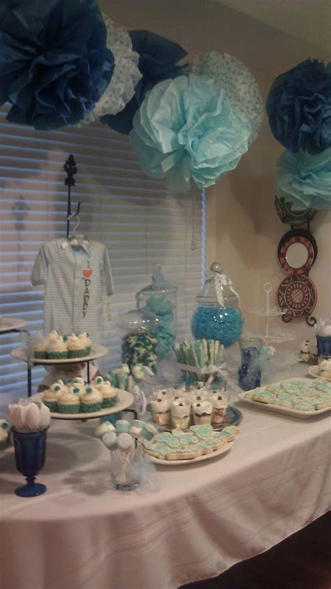 baby shower table setting baby shower pinterest baby shower idea baby boy setup baby torrez shower